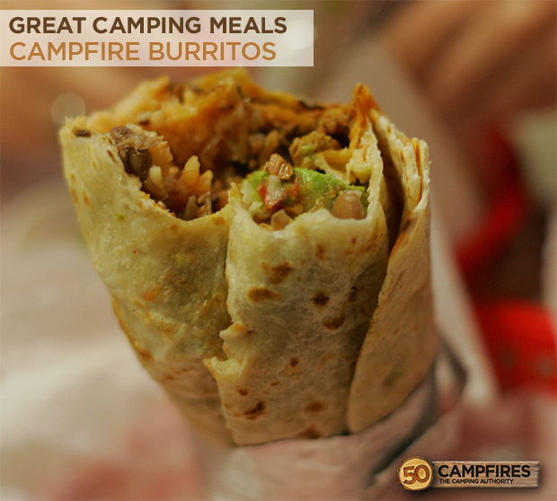 easy Campfire burritos