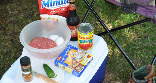 camping porcupine meatballs