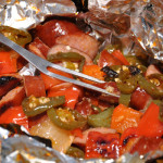 Camping Foil Pack Recipe: Sweet & Spicy Smoked Sausage & Vegetables