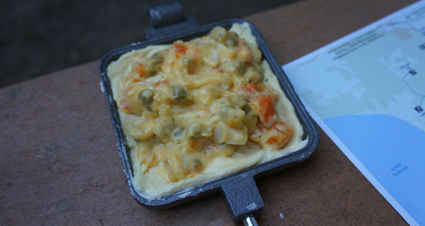 Pie Iron Chicken Pot Pie