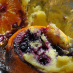 Campfire Lemon & Blueberry Cake Baked in Oranges