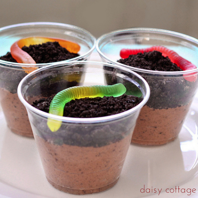 dirt and worms for dessert