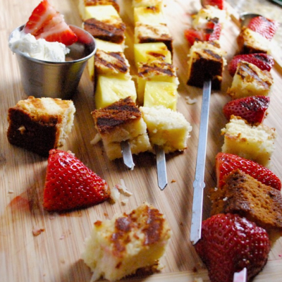 grilled shortcake skewers