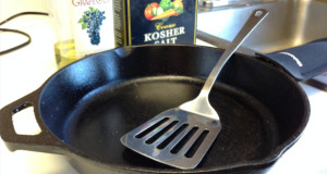 cleaning cast iron without water