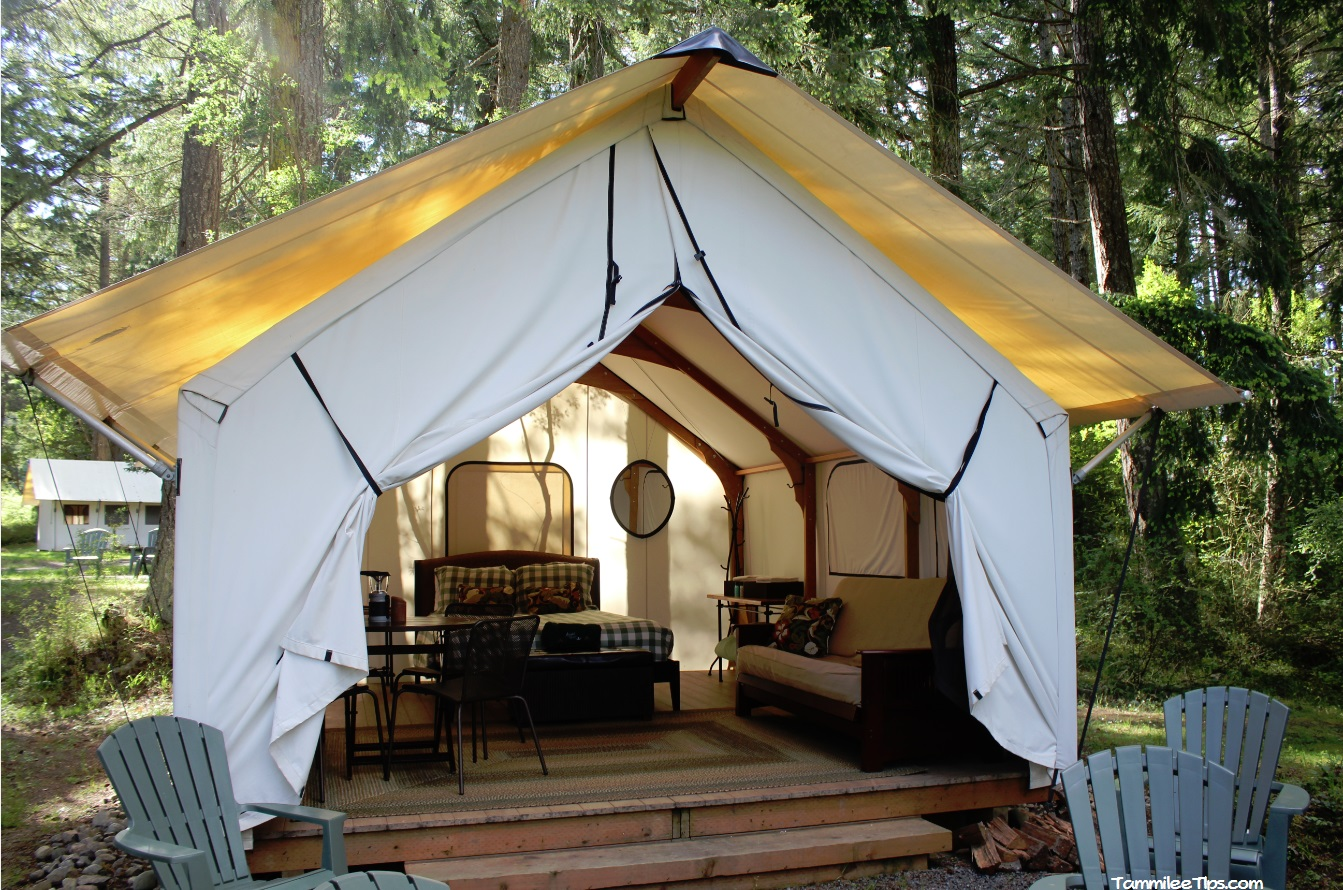 31 stunning glamping pics 50 campfires for Permanent tent cabins