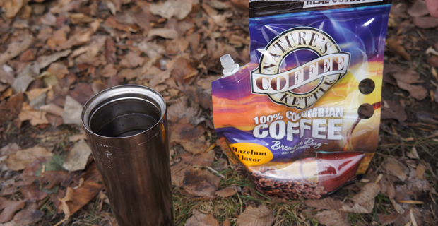 how to make instant coffee when camping