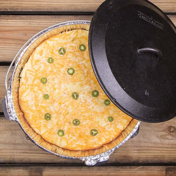 Dutch Oven Enchilada Pie is a great campsite treat ... and surprisingly easy to make.
