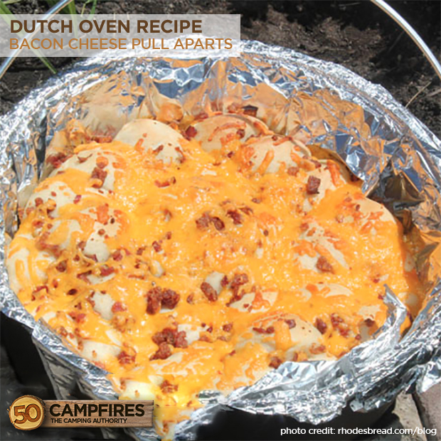 Bacon Cheese Pull Aparts In The Dutch Oven: Bacon Cheese Pull Aparts In The Dutch Oven