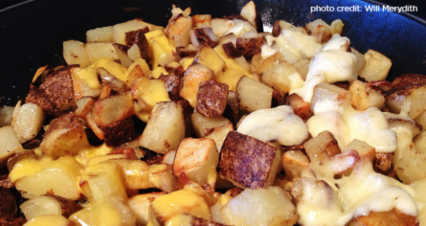 dutch oven cheesy potatoes
