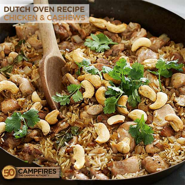 dutch oven chicken and cashews