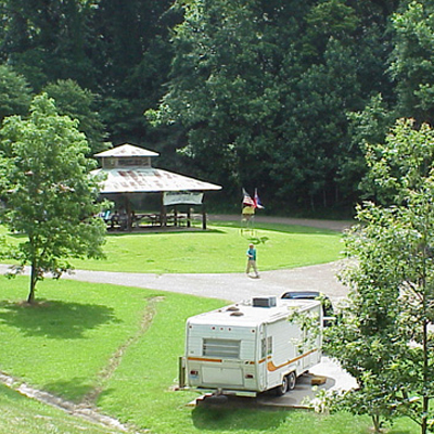 Camping Grand Gulf Military Park Campground Site