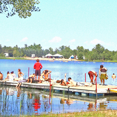 Lucky Lake Campground in West Michigan