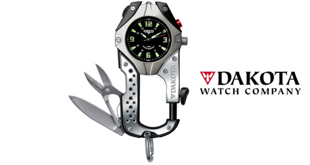 dakota watch company knife clip watch