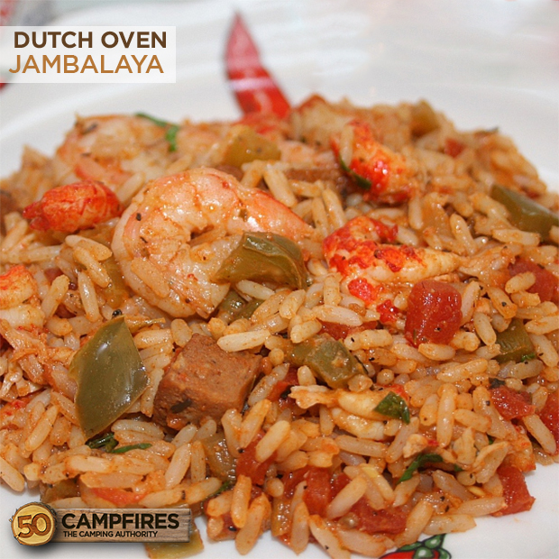 Dutch oven jambalaya 50 campfires - Easy oven dinner ...