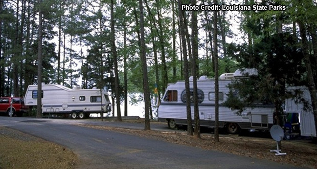 Camping Lake Claiborne State Park in Louisiana