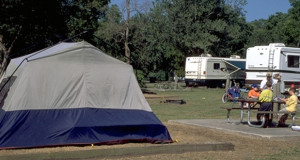 Camping at Bayou Segnette State Park