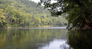 Camping at Outback Camp close to the Shenandoah River