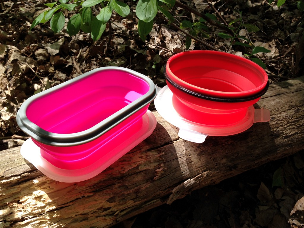 LexnGo Silicone Collapsible Snack Box and Silicone Collapsible Cereal Box