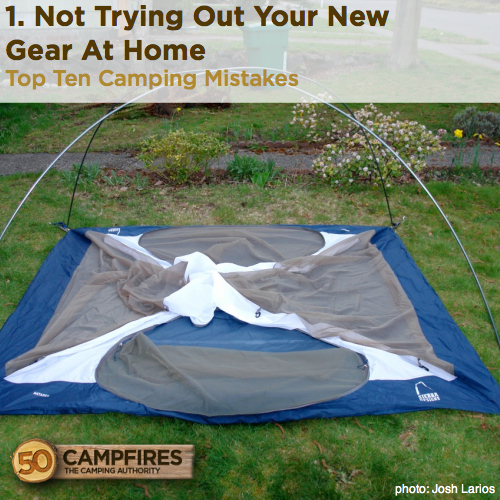 top ten camping mistakes