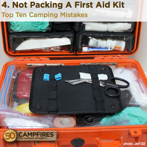 Not Packing A First Aid Kit