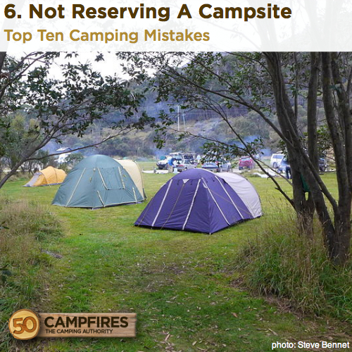 Not Reserving A Campsite