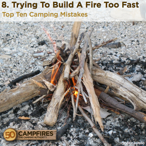 Trying To Build A Fire Too Fast