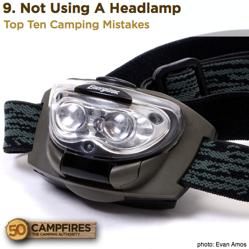 Not Using a Headlamp