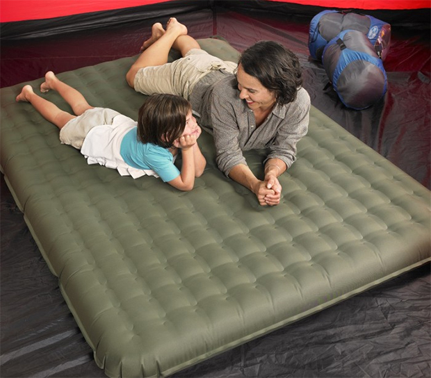 Lightspeed outdoors 2 person air bed is pvc free 50 for Best mattress for lightweight person