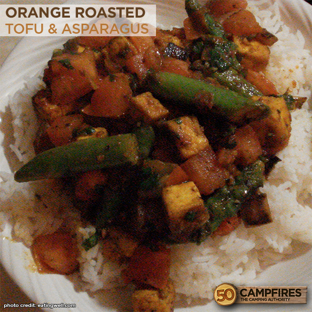 Savory Orange-Roasted Tofu & Asparagus