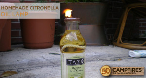 homemade citronella lamp