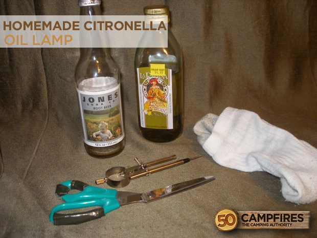 DIY Homemade Citronella Oil Lamp to Keep Away Insects - 50 Campfires