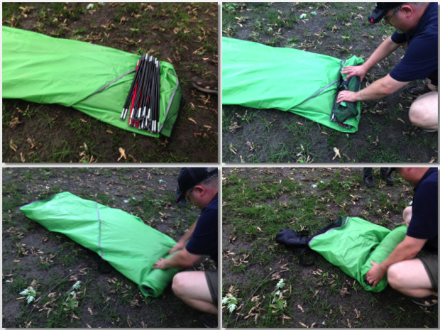 how to pack a tent