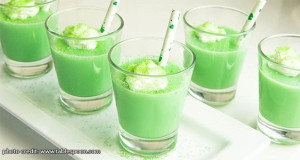 shamrock pudding shots