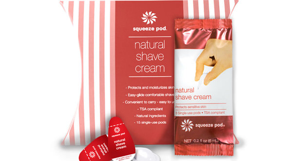 Squeeze Pods Natural Shave Cream