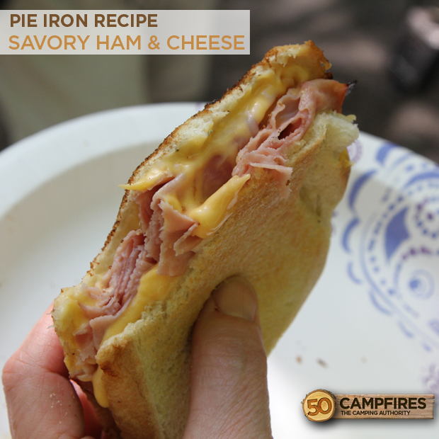 Ham and Cheese Pie Iron