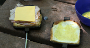Pie Iron Monte Cristo Sandwich