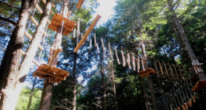 Aerial adventure park high ropes course