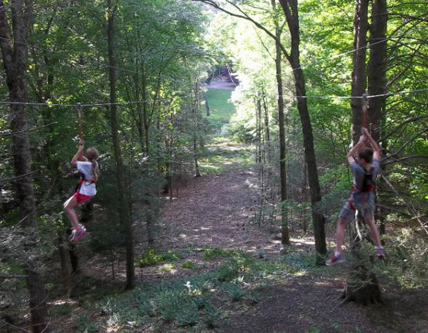 Pocono Tree Adventure Park Zip Line