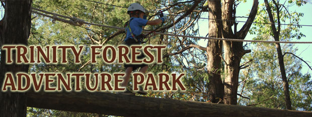 Trinity Forest Adventure Park ropes course