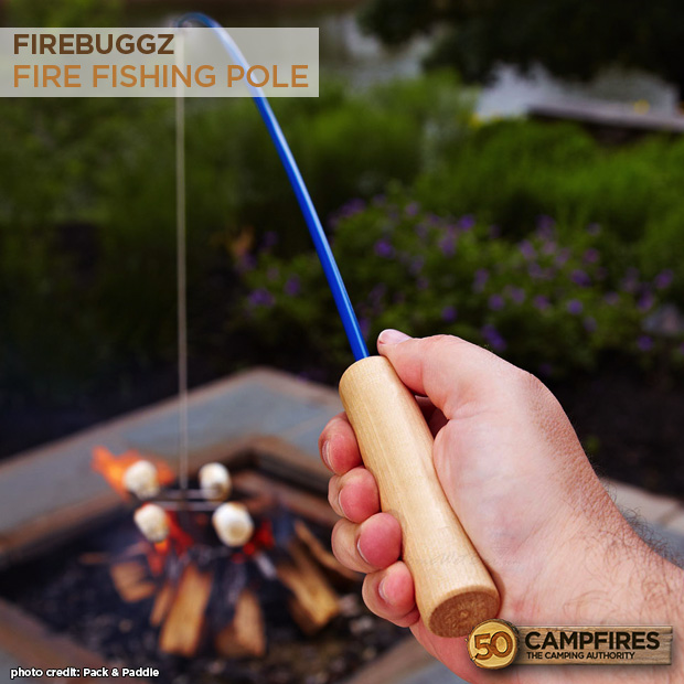 Firebuggz fire fishing pole campfire roaster