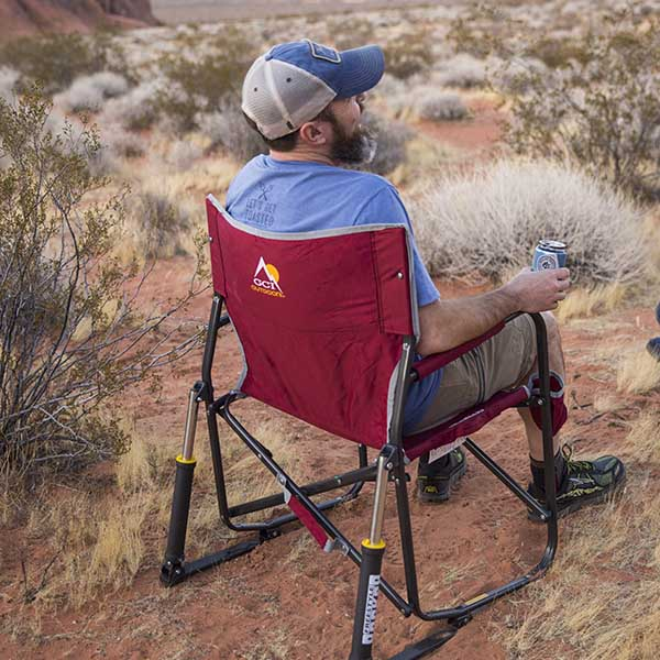 GCI Outdoor Freestyle Rocker in the desert with 50 Campfires.