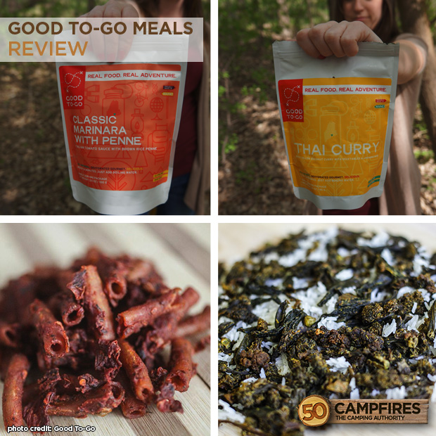 Good To-Go healthy camping meals