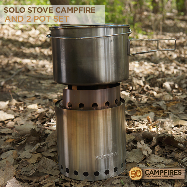 solo stove campfire and 2 pot set