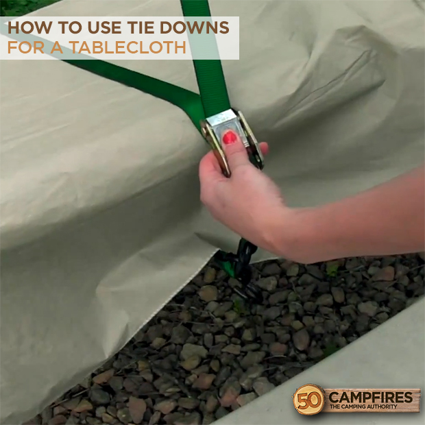 tie downs for a tablecloth