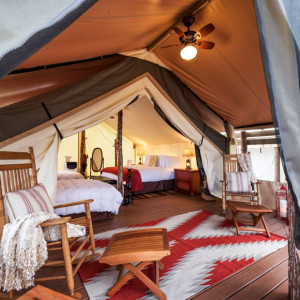 Glamping tent at Westgate Rive Ranch