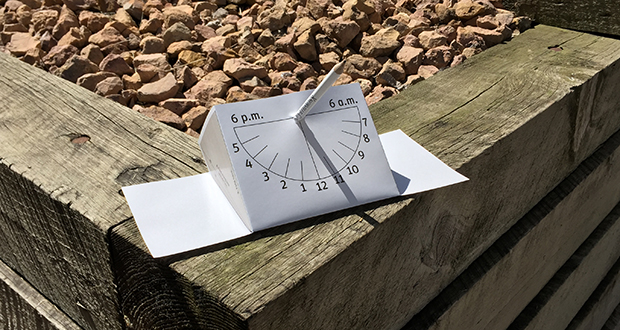 how to make a sundial