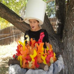 Campfire Halloween Costume With s'more Hat