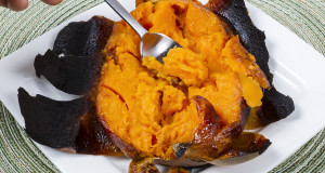 Freshly Baked Sweet Potato ready for tasting