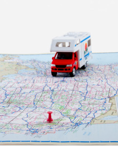 Maps for travel plans for vacation roadtrips