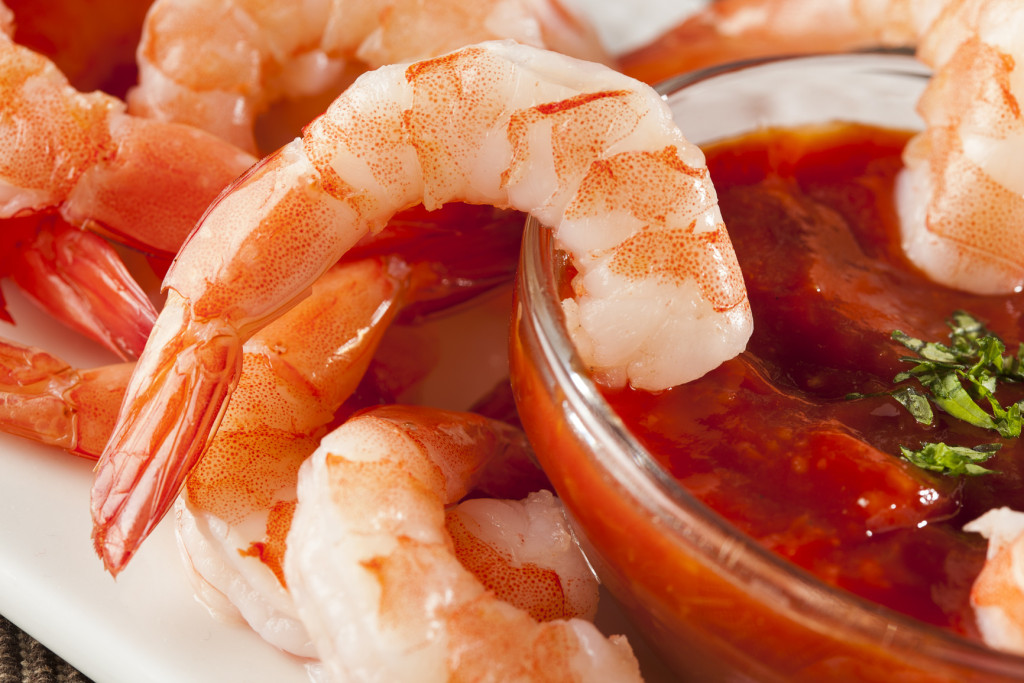 Fresh Organic Shrimp Cocktail with red sauce